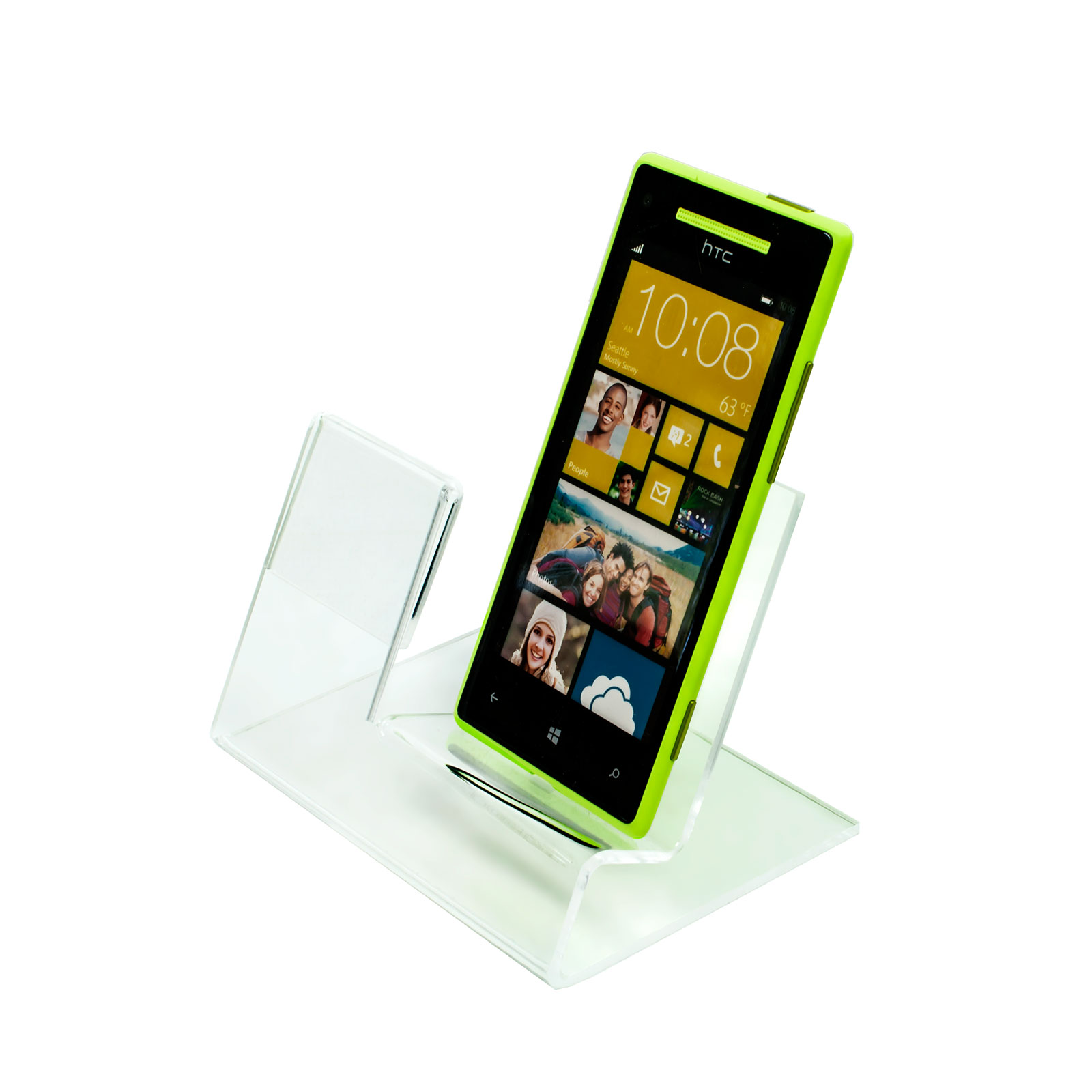 Clear Acrylic Mobile Phone Point Of Sale Display With
