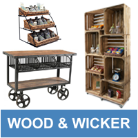 Wood & Wicker Displays