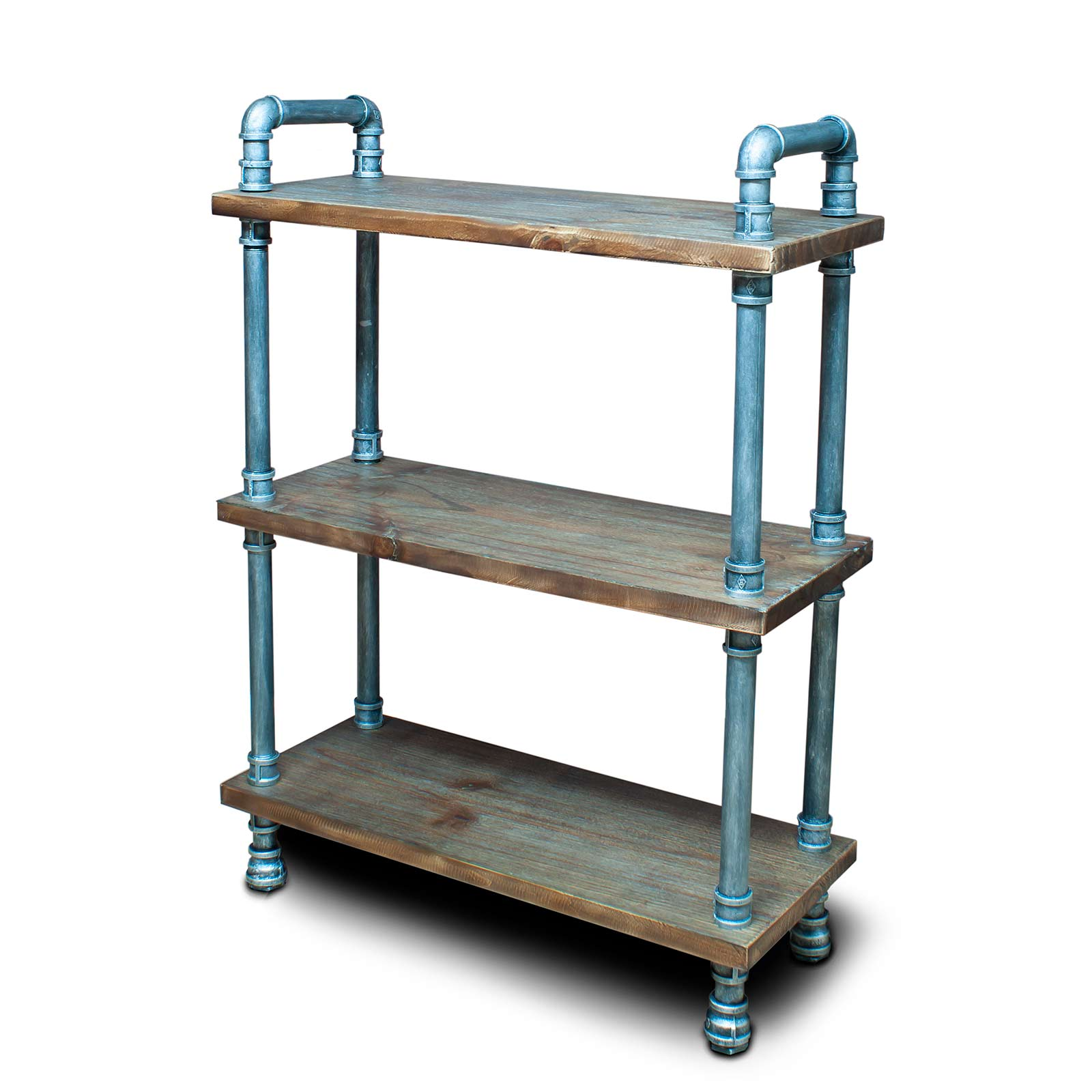 Industrial Style 3 Tier Pipe Design Home Retail Shelving